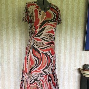 Style n Design Dress With Handkerchief Hem